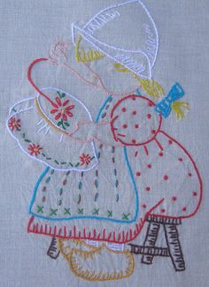 Vintage stitched embroidery