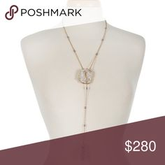 """🆕Druzy lariat tassel necklace ❌Price FIRM unless bundled❌   ⭐️NEW IN PACKAGING  ⭐️SHIPS SAME/NEXT DAY ⭐️15% DISCOUNT ON BUNDLES OF 2+ ⭐️FREE GIFT W/PURCHASE OVER $40   Gold tone lariat necklace with a white druzy stone and a gray beaded tassel. Approximately 24"""" in length. Chic by the Beach Jewelry Necklaces"""