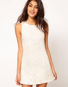 502312c06af2 Vergrößern ASOS – Etuikleid in Spitze Ausschnitt, Spitze, Kleider, Weißes  Kleid, Großhandel