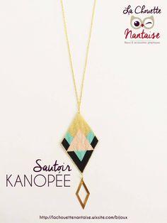"""Sautoir """"Kanopée"""" en perles Miyuki création La Chouette Nantaise - https://lachouettenantaise.wixsite.com/bijoux"""