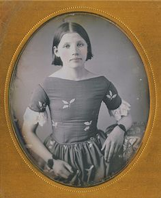 Young Girl with short hair, ca. 1840s-1850s: