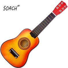 Soach ukulele 21 zoll 6 string akustische gitarre kinder anfänger praxis musical spielzeug holz verbessern die kunst erfüllung