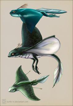 Pokos by turtle-rn on DeviantArt Alien Creatures, Cute Creatures, Fantasy Creatures, Mythical Creatures, Alien Concept Art, Creature Concept Art, Creature Feature, Creature Design, Aliens