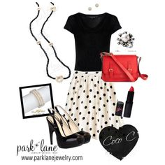 This look features the Coco C Necklace, Matinee Earrings, Jolie Bracelet & Enchanted Ring from Park Lane. Order online at www.myparklane.com/sbell