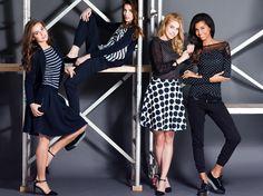 #magentafashion #magenta #fashion #skirt #shirt #spring #2015 #model #makeup #hair #campaign #fashionphotography #women #dots #striped #models #black #blue #elegant