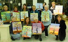 Blush & Brush Whimsical Tree Class Bay School Community Art Center