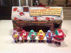RARE Vintage Santa's Workshop with Plastic Santa 5 Helpers with Tools   eBay