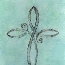 Infinity Symbol Tattoo with Cross Necklace