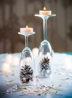 How to make: Easy DIY Christmas Decorations that cost nothing. Elegant Christmas or winter decoration, craft, or wedding centerpiece. Great Budget decor ideas for the home. diy centerpieces 8 Easy DIY Ways To Decorate Your Home For Christmas - Twins Dish Elegant Christmas, Simple Christmas, Christmas Home, Christmas Holidays, Christmas Crafts, Christmas Pajamas, Minimal Christmas, Modern Christmas, Office Christmas