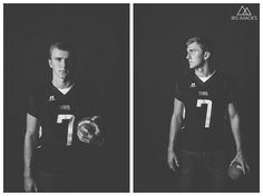 Senior Photographer in Omaha and Papillion, Nebraska | Papillion South High School football player | senior portraits | www.irisimagesomaha.com