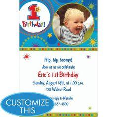 One-derful Birthday Boy Custom Photo Invitation