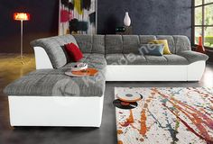 Upholstered corner, optionally with bed function buy OTTO - Living Room Decorations Sofa Couch, Decor, Couch, Bed, Furniture, Contemporary Rug, Domo Collection, Living Room Decor, Room
