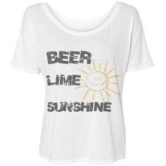 Beer Lime and Sunshine tee #beer #sunshine #summertime
