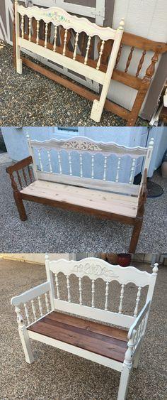 Repurposed head board into bench #2