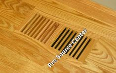 GrillWorks x Wood Floor Register - Trimline Flush Red Oak Vent Covers Registers Slatted Solid Wood Flooring, Hardwood Floors, Wooden Diy, Wooden Signs, Colonial, Vent Covers, Red Oak, White Oak, Wood Design