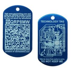 NEW Blue QR Tech Tags in stock!  $5.99 @ shop.geocaching.com