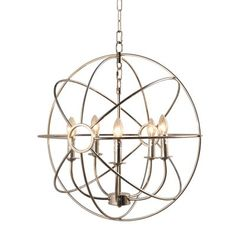 One Allium Way Padilla 5-Light Candle-Style Chandelier Finish: Nickel Plated