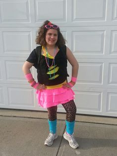 What should a girl wear on 80s day.?