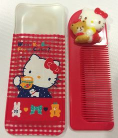 Vintage Hello Kitty Sanrio comb made in Japan  1987 by TownOfMemories on Etsy
