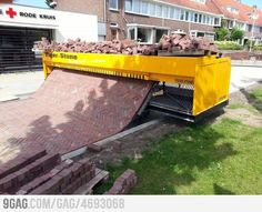 Brick laying machine. Not a concept, but I think it's pretty slick :)