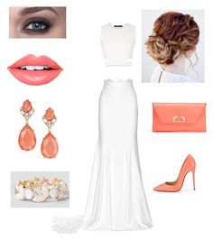 """Untitled #21"" by serays on Polyvore featuring Rime Arodaky, Christian Louboutin, BCBGMAXAZRIA, INC International Concepts and Fiebiger"