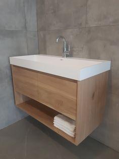 Bad Inspiration, Bathroom Inspiration, Bathroom Ideas, Laundry Hacks, Laundry In Bathroom, Toilet, Sink, New Homes, Interior