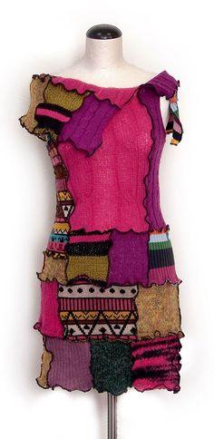 Filomena tunic - ompletely upcycled tunic made of different twists, mostly woolen. Measuring about 85 cm.  66.00 €  http://www.kesidov.eu/pants-tunics/tunika-filomena