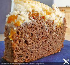 Schoko - Kuchen mit Mandarinen und Kokos - Schmandguss
