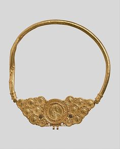 Byzantine Pectoral with Coins and Pseudo-Medallion, ca. 539–550 - gold, niello