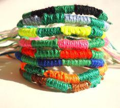 Green mix double color woven bracelet friendship bracelet unique bracelet choose your two colors unique jewelry fiber bracelet thread by VazJewelryOriginals on Etsy https://www.etsy.com/listing/232353587/green-mix-double-color-woven-bracelet