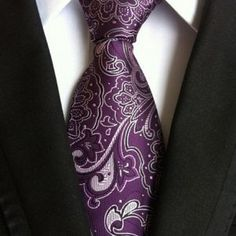 CityRaider Brand Corbatas Silk Neck Ties For Men 2016 New Cravate Mens Wedding Tie Casual Gravata Neckties Necktie Mens Wedding Ties, Purple Suits, Paisley Tie, Paisley Print, Grey Tie, Suit And Tie, Flower Fashion, Business Fashion, Formal