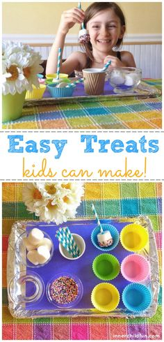 Easy Treats Kids Can Make - great rainy day fun! #kids