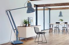 Oversized floor lamps are a must in every leaving room! Dont miss Anglepoise at Salone del Mobile3