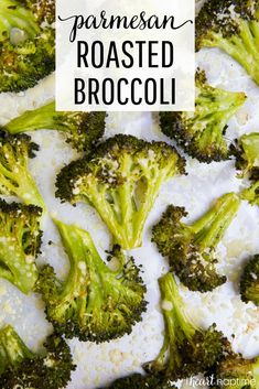 Parmesan Roasted Broccoli - AKA the best broccoli ever! Such a simple, yet tasty side dish. Perfectly crispy and full of flavor! #broccoli #vegetables #parmesan #cheese #healthy #healthyrecipes #healthyfood #healthyeating #easyrecipe #sidedish #recipes #iheartnaptime