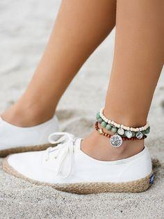 0a1b042ec5a Sandbar Beaded Anklet Set. SapatosTornozeleiras ...