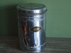 Kitchen Canister by VintageRetroOddities on Etsy