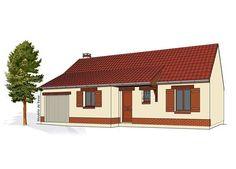 Modèle PC-09  Pavillon plain-pied avec garage comprenant cuisine, séjour, hall, salle de bains, WC et 3 chambres.  Surface Habitable : 75,07m²