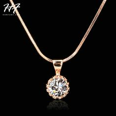 Aliexpress.com : Buy Top Quality Fashion Crown Pendant Necklace for Women Retro Vintage Classic Rose Gold Plated Cubic Zircon Stone Jewelry N390 from Reliable crystal ladybug suppliers on Shanghai Hanfunt Jewelry - ITALINA Factory Store