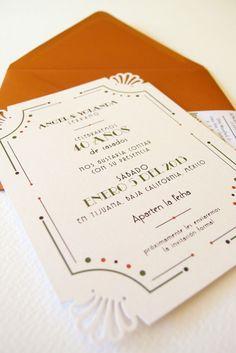 art deco wedding invitation « Lizzy B Loves