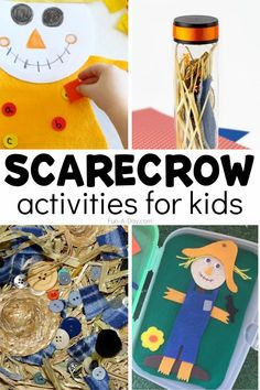 Tons of fall preschool activities that are scarecrow-themed! Math activities, sensory exploration, fall crafts, and so much more! Fall Preschool Activities, Early Learning Activities, Stem Activities, Craft Stick Crafts, Fall Crafts, Toddler Crafts, Crafts For Kids, Scarecrow Crafts, Easy Arts And Crafts