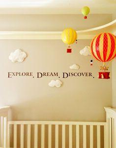 Hot air balloons nursery - explore, dream, discover!