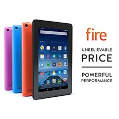 """Fire Tablet, 7"""" Display, Wi-Fi, 8 GB (Black) - Includes Special Offers - £49.99"""