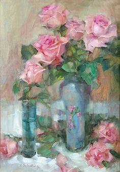 "Barbara Schilling, ""Pink Roses"""