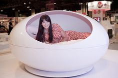 Ideal Home Show Scotland 2012 - Suzi Perry in a pod