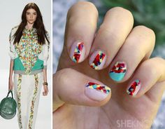 DIY Rebecca Minkoff-inspired floral nails DIY Nails Art