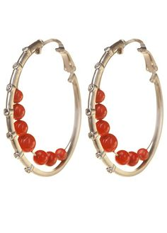 RIO CORAL HOOPS, SILVER BP FINISH  Click to enlarge    	  RIO CORAL HOOPS, SILVER BP FINISH