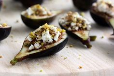 Goat Cheese and Pistachio Stuffed Figs Are a Winning Appetizer via Brit + Co.