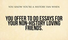 There's always time to do essays for fun.