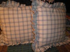 Ruffled pillow cushions