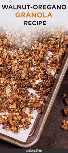 This walnut and oregano granola is going to be your new go-to savory snack.